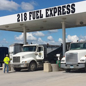 218 Fuel Express with trucks fueling