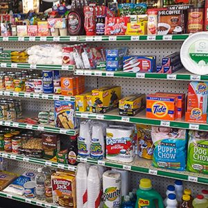 Floyd's Truck Stop Convenience store shelves